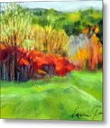 Autumn Reds Metal Print by Lenore Gaudet