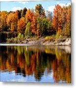 Autumn Reflected Metal Print