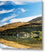 Autumn Reflection, Loch Long Metal Print