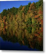Autumn Reflection Of Colors Metal Print