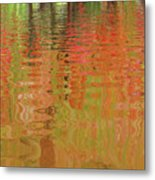 Autumn Reflections Abstract Metal Print