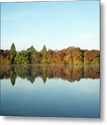 Autumn Reflections At Belmont Lake Metal Print