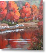 Autumn Reflexions 2 Metal Print