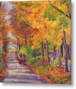 Autumn Ride Metal Print by David Lloyd Glover