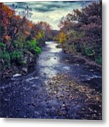 Autumn Riders On The Storm Metal Print