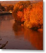 Autumn River Metal Print