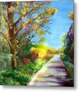 Autumn Roads Metal Print