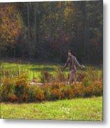 Autumn Scarecrow Metal Print