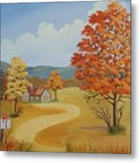 Autumn Season Metal Print