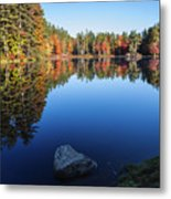 Autumn Serenity In Maine Usa Metal Print