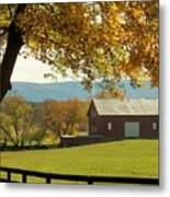 Autumn Shenandoah Barn Metal Print