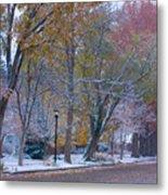 Autumn Snow Metal Print