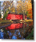 Autumn Sunrise Bridge II Metal Print
