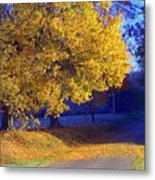 Autumn Sunrise In The Country Metal Print