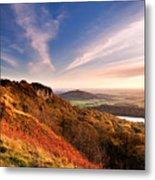 Autumn Sunset At Sutton Bank Metal Print
