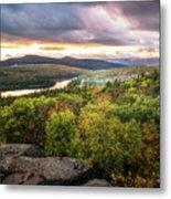Autumn Sunset In The Catskills Metal Print