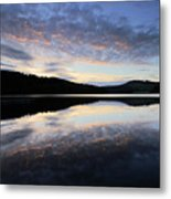 Autumn Sunset, Ladybower Reservoir Derwent Valley Derbyshire Metal Print