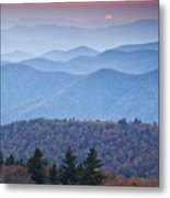 Autumn Sunset On The Parkway Metal Print