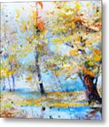 Autumn Tenderness Metal Print