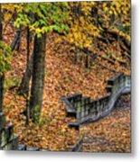 Autumn Trail - Rockyriver Metroparks Metal Print
