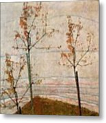 Autumn Trees Metal Print by Egon Schiele