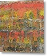 Autumn Trees In New England Metal Print