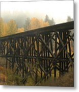 Autumn Trestle Metal Print