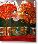 Autumn Trilogy Metal Print
