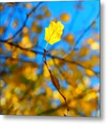 Autumn Twist Metal Print