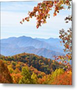 Autumn View Of The Smokies Metal Print