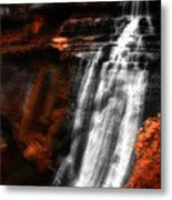 Autumn Waterfall 3 Metal Print