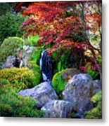 Autumn Waterfall Metal Print by Carol Groenen