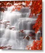 Autumn Waterfall I Metal Print