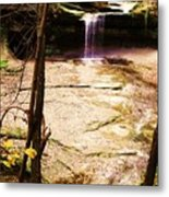 Autumn Waterfall II Metal Print