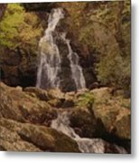 Autumn Waterfall In The Great Smoky Mountains Metal Print