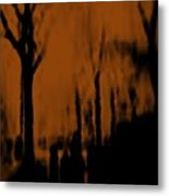 Autumn Wet Day Metal Print
