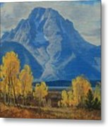 Autumn-willow Flats Metal Print