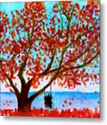 Together In Autumn  Metal Print