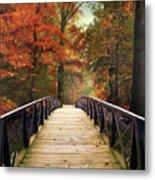 Autumn Woodland Crossing Metal Print
