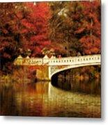 Autumnal Bow Bridge  Metal Print