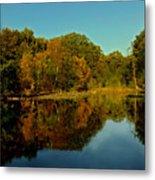Autumnal Reflecion Metal Print