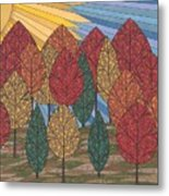 Autumn's Glow Metal Print