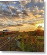 Autumn's Sunset Metal Print