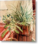 Avacado And Spider Plant Metal Print