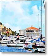 Avalon Casino Harbor, Catalina Metal Print