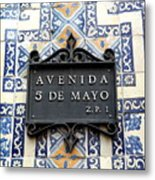 Avenida 5 De Mayo Metal Print