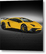 Aventador Lp 750-4 Sv New Giallo Orion Metal Print