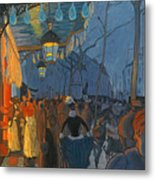 Avenue De Clichy. Five O'clock In The Evening Metal Print