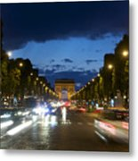 Avenue Des Champs Elysees. Paris Metal Print