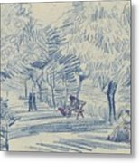 Avenue In A Park Arles, May 1888 Vincent Van Gogh 1853 - 1890 Metal Print